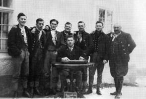 Der Pöttinger Gesangsverein im Jahre 1933